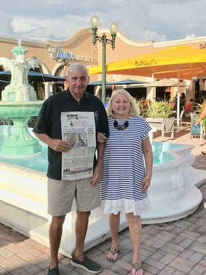 Tom and Jerri LaRocco enjoyed diner at the Oyster Society restaurant while visiting Marco Island.