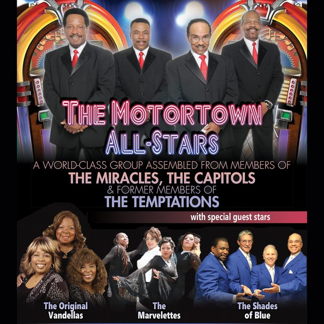 """The Motortown All-Stars will headline """"Motown All-Star Spectacular"""" on Oct. 14, 2021, at Lake Michigan College's Mendel Center."""