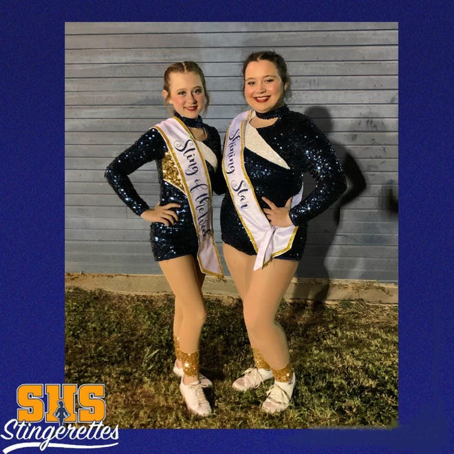 The Stephenville High School Stingerettes recognize these dancers for their efforts during the week of the Sept. 17 pep rally and varsity football game. Dallee was awarded Sting of the Week and Makenzie was Shining Star.