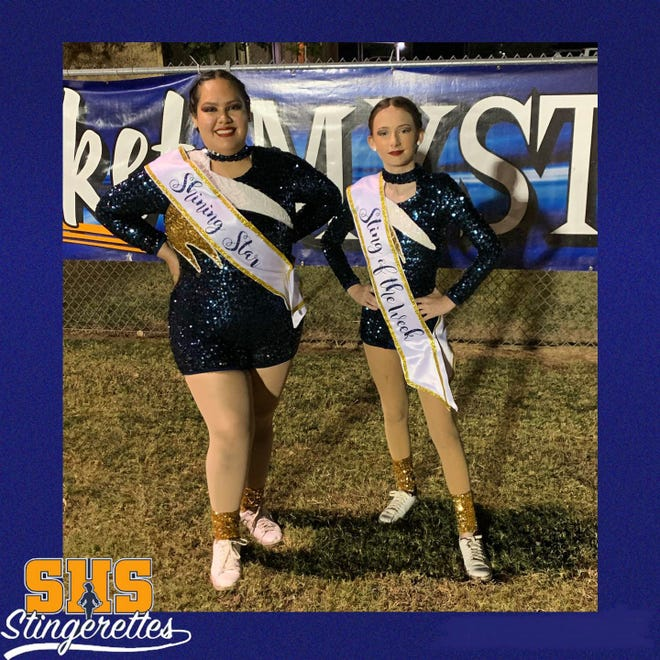 The Stephenville High School Stingerettes recognize these dancers for their efforts at the week of the Sept. 24 pep rally and varsity football game. Yanira was awarded Shining Star and Kambria was Sting of the Week.