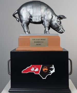 East takes on the west for this trophy for the Barbecue Bowl.