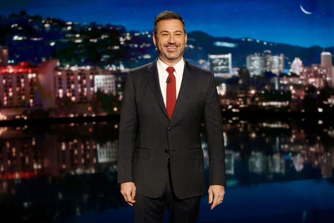 """""""Jimmy Kimmel Live!"""" host Jimmy Kimmel featured Sarasota in his monologue Tuesday evening, poking fun of the protestors who congregated outside Sarasota County School Board Chairwoman Shirley Brown's house. [Herald-Tribune archive photo /2020]"""