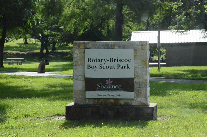 Rotary-Briscoe Boy Scout Park, at the corner of Main and Pesotum in Shawnee.