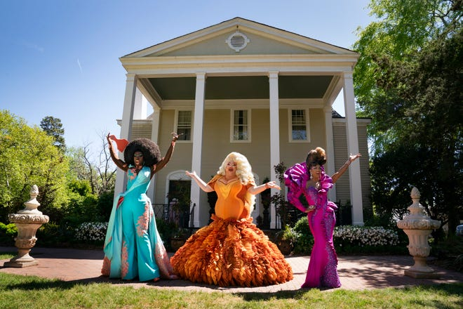 """Bob the Drag Queen, from left, Eureka and Shangela return to bring the expressive art of drag to everyday people in HBO's docuseries """"We're Here,"""" airing 9 p.m. Sundays."""