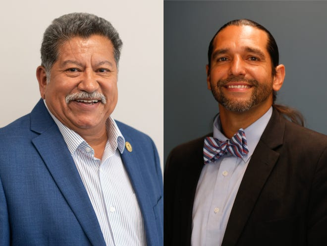 Leo Cangiani, right, and Mike Padilla, left, are running for Topeka Mayor.