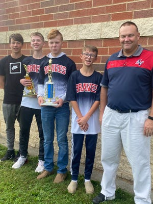 The Indian Valley Middle School Golf Team won the Inter-Valley Conference Postseason Championship on Sept. 25 at Five Waters Golf Course. They also came in second place at the Early Bird Invitational in August and had a season record of 13-1. The championship team included Brody Meade, Logan McPeek, Deagan Beaber, Philip Rangel, and Coach Jason Cappel.