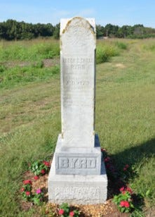 The Byrd Memorial in Grey Rock is a tribute to former slaves,Allen and Sarah Byrd.