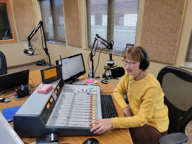 Jan Robson has been with KXLG radio since its beginning. She hosts the midday show and is also the production manager for the station.