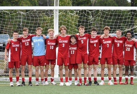 Senior players of the Masconomet Boys Soccer Team.