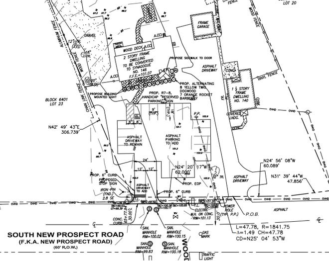 This proposed site plan shows Beth Medrash of Jackson, the township's first official synagogue for its growing Orthodox Jewish community.