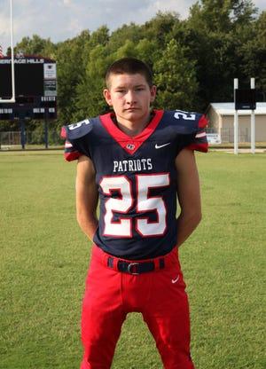 Blake Duttlinger is a Heritage Hills junior football player and wrestler who endured a below-the-knee amputation in September.