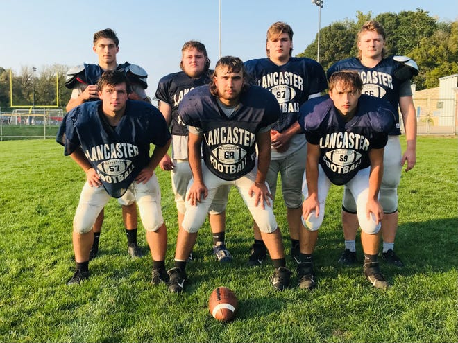 Lancaster's offensive line has taken their game to another level the last two weeks and paved the way to a pair of victories, as well as a combined 705 yards of total offense, including 684 yards rushing. The Gales' offensive line consists of, front row, left to right: Austin Tiller, Andrew Hanshey and Kody Hoffman. Second row, L-R: Ryan Walker, Jesse Miller, Tim Lewellen and Jacob Rohr.
