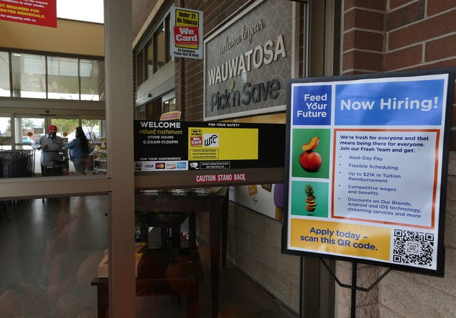 Pick 'n Save in Wauwatosa on Mayfair Road is among the retailers looking to hire workers. Businesses are still struggling to find employees as older workers age out of the workforce.