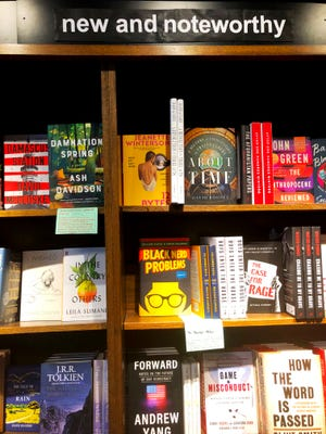 A selection of new books at Milwaukee's Boswell Books. Supply chain problems are creating book shortages and distribution delays in late 2021, according to industry observers.
