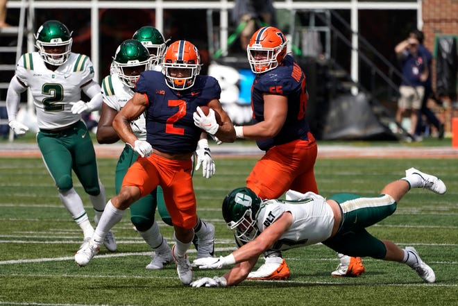 After a 257-yard performance against Charlotte, Illinois tailback Chase Brown is averaging 7.3 yards per carry.