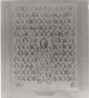 This print shows the delegates to the 1901 Alabama constitutional convention. The all-white convention, convened through fraud, approved a constitution that denied voting rights to most Black Alabamians and poor whites.