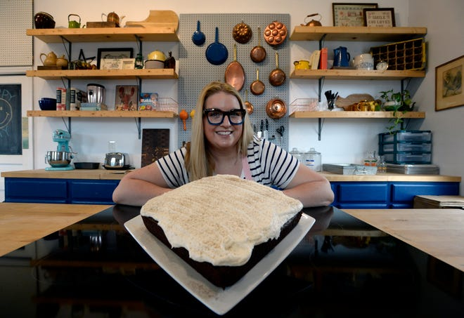 Sarah Gonzalez, the Nashville Bread Lady, with her gingerbread spice cake on Wednesday, October 6, 2021 in Spring Hill, Tenn. The 1850s recipe is from her paternal great-grandmother Eva Dobyns.