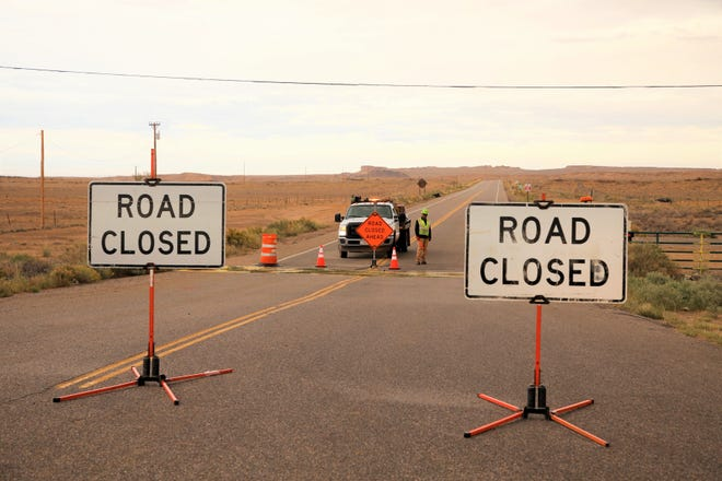 The turn off to Navajo Route 5 from U.S. Highway 491 at Burnham Junction was closed on Oct. 5 because of a fatal crash near mile marker 19 on N5.