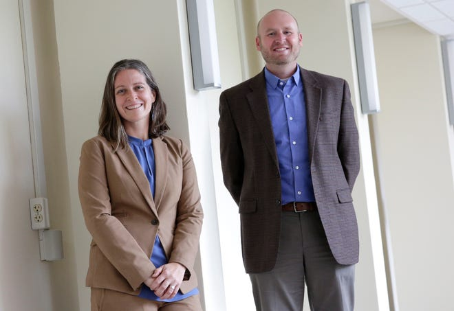 Samantha Larson, left, and Michael Ford will lead the University of Wisconsin-Oshkosh's new Whitburn Center for Governance and Policy Research.