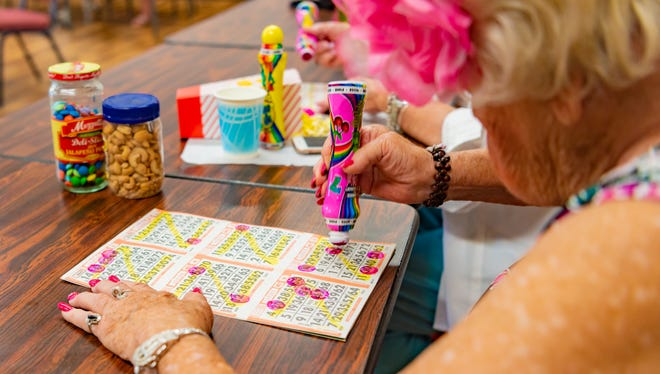 Bingo is among the many activities offered to seniors at The Joslyn Center.