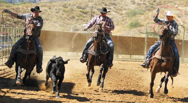 Contestants at the last Morongo rodeo, held in 2019.