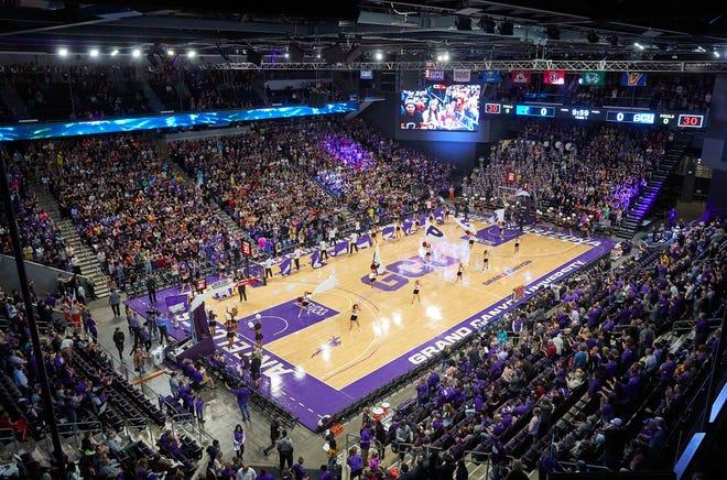 Grand Canyon Arena has sold out or the 2021-22 men's basketball season. Photo by David Kadlubowski