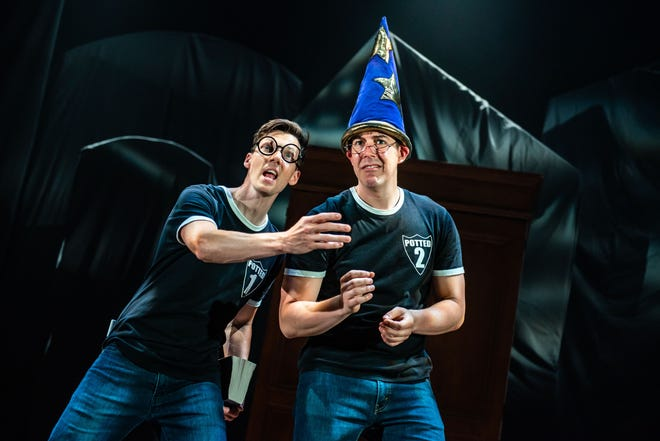 """""""Potted Potter — The Unauthorized Harry Experience,"""" a parody that condenses the """"Harry Potter"""" series into a 70-minute play, will be at the Madison Center for the Arts from Oct 28-30, 2021."""
