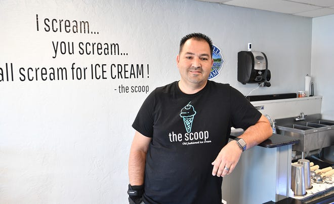 Michael Coleman recently opened his ice cream parlor, The Scoop, at 4026 Kemp Blvd.. The Scoop serves hand-dipped Blue Bell ice cream.