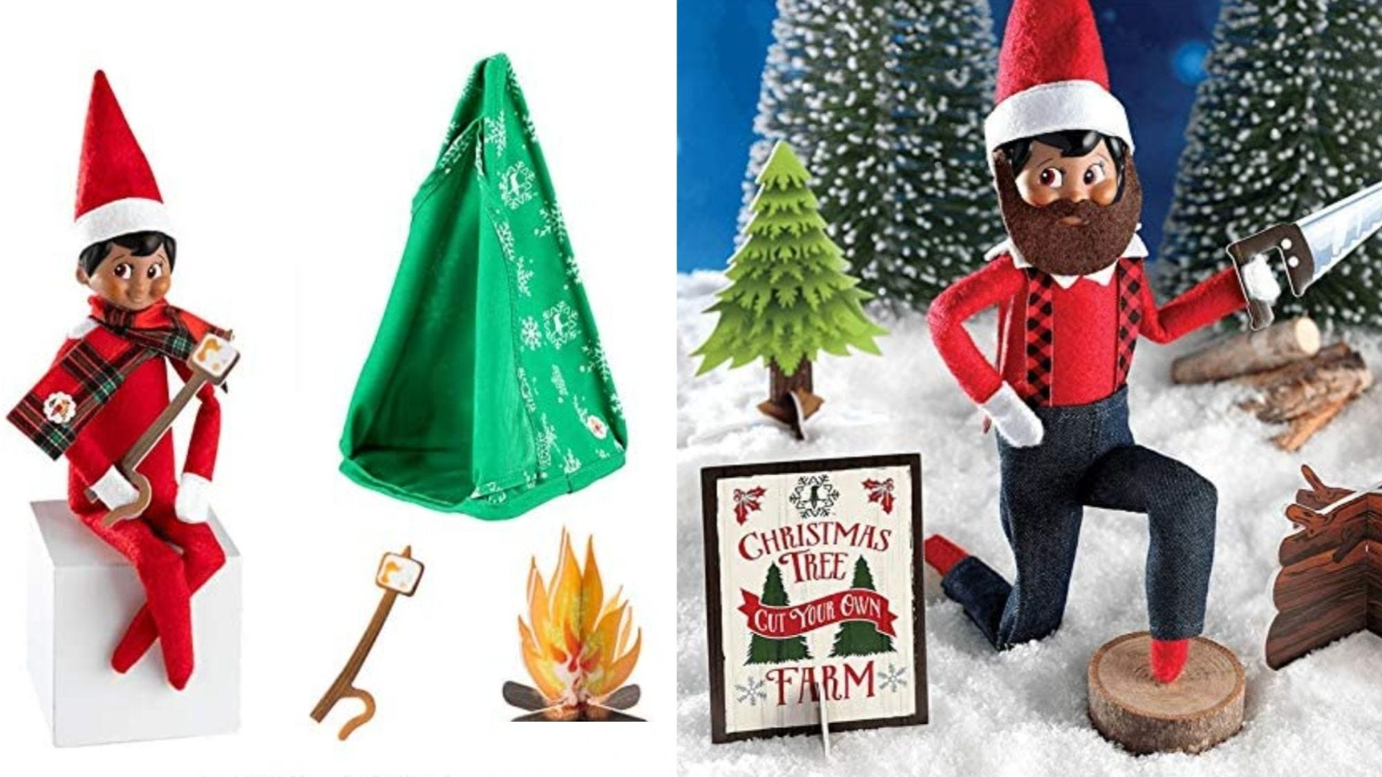 This set even comes with a beard, for the manly elf.
