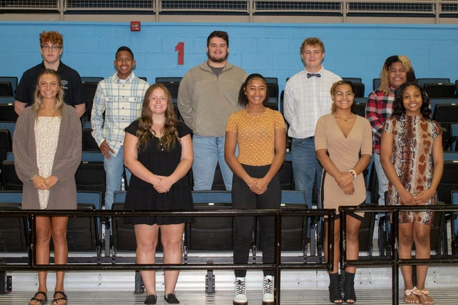 Members of Alliance High School's fall homecoming court are, front row from left, Reese Grisez, Olivia George, Jayla Callock, Mianna Ford and Alayjah Smith; and, back row from left, Holden Robinson, Kamden Jones, Hunter Berlin, Corbyn Staggers and Alonzo McKenney.