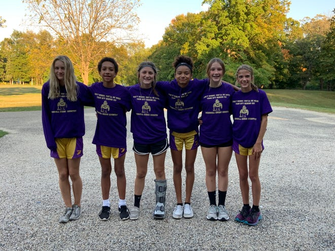 Canton Ingersollrecently held EighthGrade Night for the Cross Country team. All seven are 4-year runners in the program. Pictured from the left are: Ella Bruketta, Carter MacVean, Ashley Wroblewski, Aneliese Hodges, Mackenzie Hand, Liva Knowles (not pictured Olivia Sprecher).