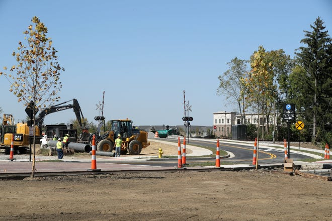 The completed Columbus Street extension in Grove City is shown Oct. 1.