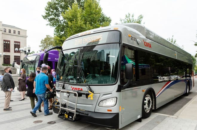 COTA recently showcased its new electric fleet to Columbus City Hall employees during an open house with the Columbus Regional Airport Authority.