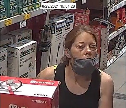 Central Ohio Crime Stoppers is offering a reward for information leading to the arrest of this woman and a man working with her who were involved in the theft of more than $2,000 worth of merchandise from a Lowe's store on Columbus' North Side.