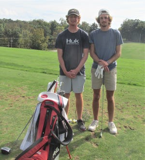 Carter Mishler, left, and Brookston Hummel give Hiland a potent one-two punch as they prepare for their fourth straight trip to the state tournament.  Hummel is the reigning state champion and Mishler finished fourth last year, earning both first team All-Ohio honors.