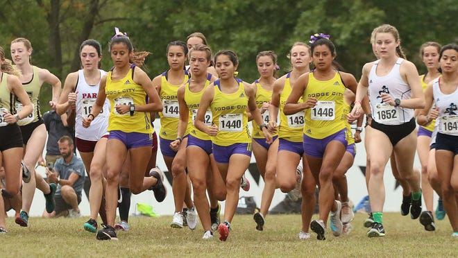 Dodge City CC women's cross country runner, Denise Dominguez races to 15th place finish at Colby Invite.