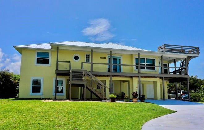 Built in 1990 one block from the beach and recently remodeled, this house on North Central Avenue in Flagler Beach sold recently for $1,010,000. It has five bedrooms and four baths in 3,900 square feet of living space, and it also has a covered front deck, a fireplace, a guest suite, a saltwater pool, a wraparound deck and a crow's nest deck for ocean viewing.