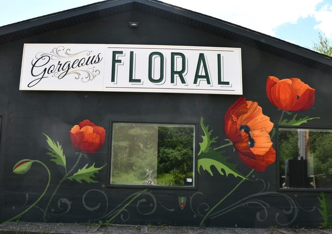 Gorgeous Floral has opened at 210 Welwood Ave., Hawley, in the 1897 Paupack Electric Company building that generated power for the community from the falls. The property was used as an antique shop in recent years. A grand opening for Gorgeous Floral is set October 9, 2021. / Contributed image