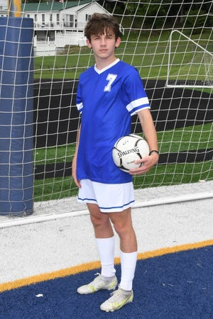 Noah Kessell (7) is playing out his final season as a Ripley Viking soccer standout. Kessell has been used this season as a midfielder and forward for head coach Victor Boyce's Vikings.