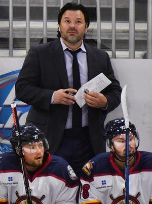 Peoria Rivermen head coach Jean-Guy Trudel will begin preparing his team for the 2021-22 SPHL season when training camp opens Saturday, Oct. 9, 2021.