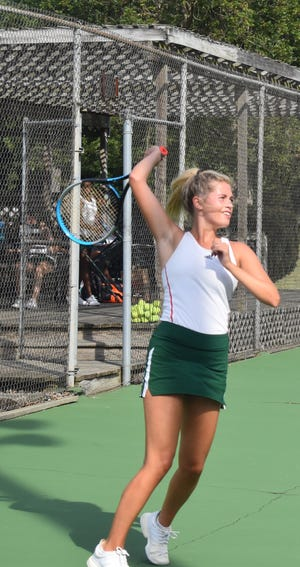 Bailee Pineda a senior from Lincoln was honored as All-Conference in tennis for the Apollo Conference.