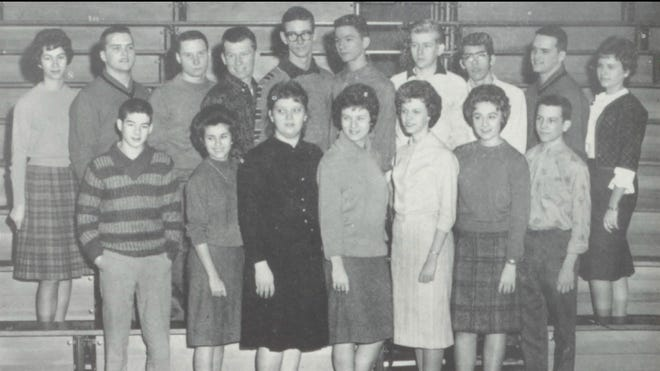 Pictures of the Past is from the 1962 Lincoln Community High School yearbook. The photo shows members of the student council. First row: Gary Clapper, Linda Allen, Judy Berglin, Nancy Tague, Gloria Appel, Melody Wiggers and Charles Moore. Second row: Bonnie Bayer, Larry Myers, Rick Dearborn, Don Baker, Joe Anderson, Ted Bayer, Gene Stuckel, Michael Vlahovich, Gary Myers and Mary Ruth Fuller. This group planned homecoming, provided diversified programming and organized a second Spring Fling.