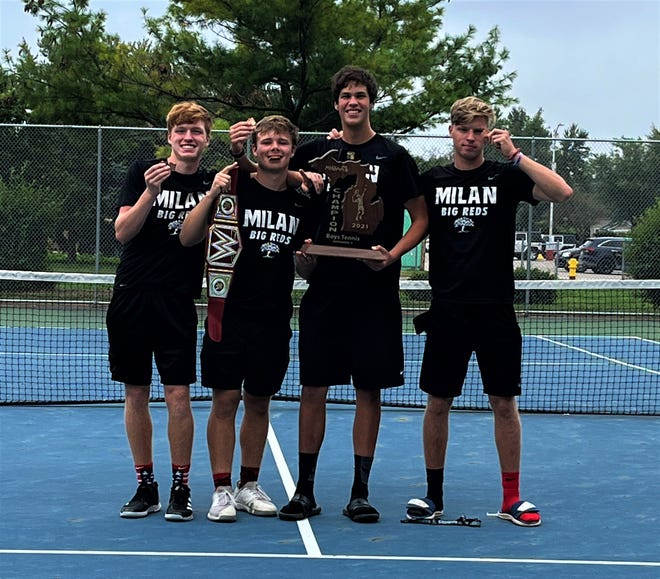 Milan's boys tennis team was crowned regional champion on Wednesday and qualified for the school first state final's berth.