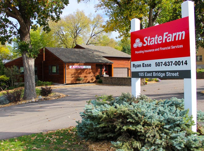 Ryan Esse purchased the former dental office at 105 East Bridge Street for his State Farm agency.