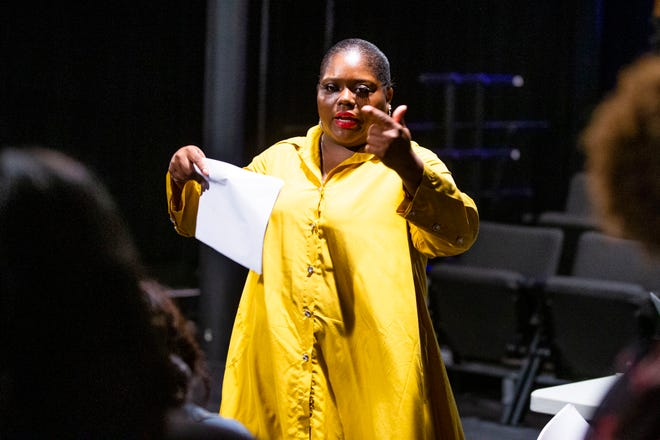 """Brandi Franklin makes her directorial debut with """"Changing Faces,"""" a play about domestic violence that she's staging Oct. 9 at  South Bend Civic Theatre."""
