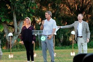Toni and Paul Azinger, with Dr. Jerry Haag and Christi Haag at the One More Child groundbreaking.