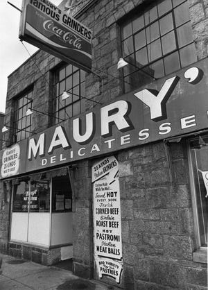Maury's Delicatessen, in April 1982. The restaurant, now at 1125 Main St., was once at 1085 Main St.