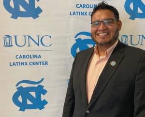 Josmell Perez at UNC-Chapel Hill's Latinx Center. Perez believes in celebrating Latinx culture year-round.