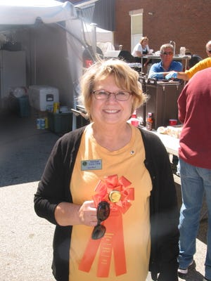 Jane Root's persimmon pudding was judged the best pudding of 71 entries in the 2021 Persimmon Festival pudding contest.