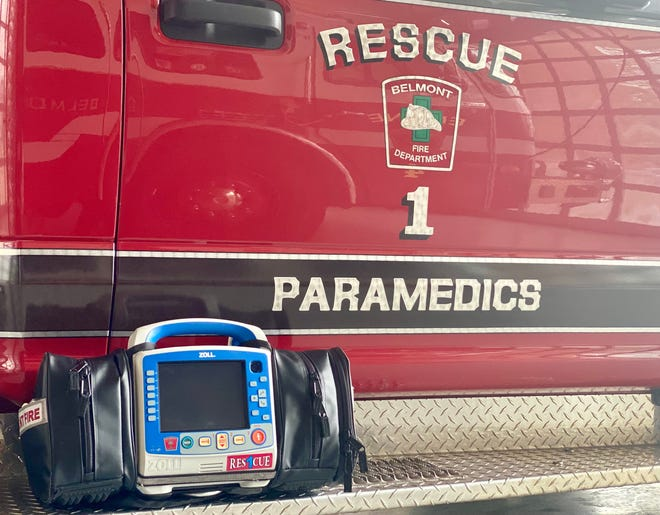The Belmont Fire Department recently placed in service a new cardiac monitor on Rescue 1. This equipment features technology advancements that will allow paramedics to optimize treatment of certain patients who require advanced pre-hospital care.